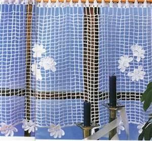 Rideau Brise Vue : rideau au crochet filet brise vue plumetis de fleurs tutoriel gratuit le blog de crochet et ~ Teatrodelosmanantiales.com Idées de Décoration