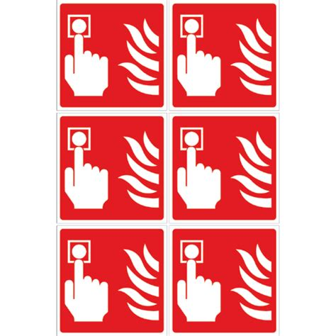 labels supplied  sheet form fire alarm call point image