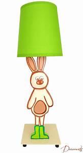 Lampe De Chevet Garçon : lampe de chevet enfant b b lapin nature for t beige vert et chocolat ~ Teatrodelosmanantiales.com Idées de Décoration