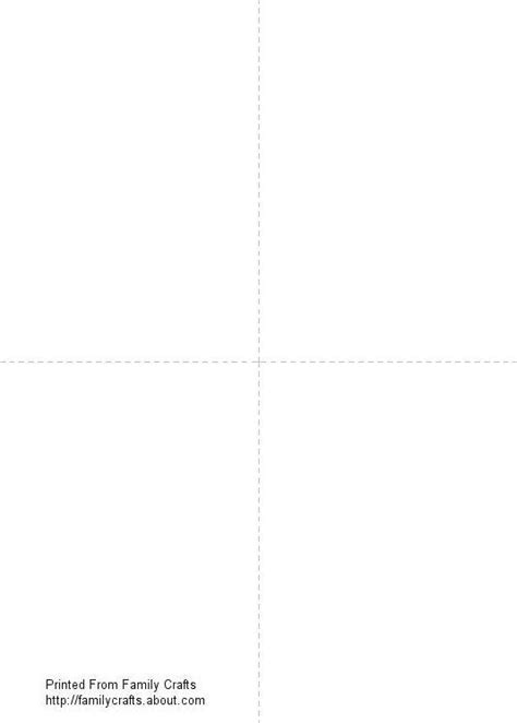 blank printable greeting card template