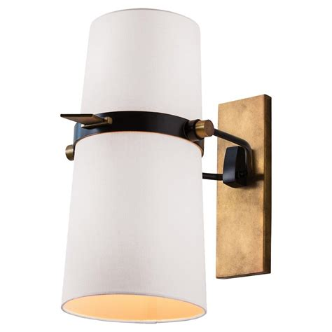 in wall sconce jackson modern brass white shade adjustable wall sconce