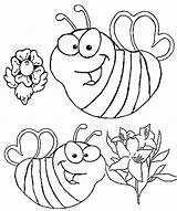Coloring Bee Bees Pages Facts sketch template