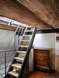 Echelle Pour Escalier : loftylovin 27 stair design ideas to organize your loft ~ Melissatoandfro.com Idées de Décoration