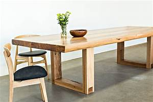 Solid recyled chestnut timber table rust furniture for Timber dining room furniture australia