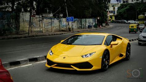 Yellow Lamborghini Huracan in Bangalore! - YouTube