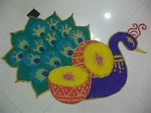 Peacock Rangoli Designs – 10 Peacock Rangoli Designs ...