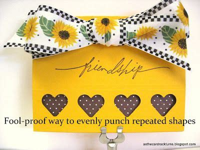 card rack turns  tutorial evenly punched shapes