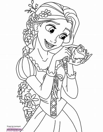 Rapunzel Tangled Coloring Pages Pascal Disney Sheets
