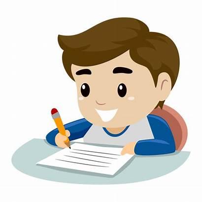 Writing Clipart Boy Paper Clip Children Pezzo