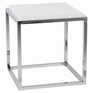 Table D Appoint Blanche : cube de rangement ou table d 39 appoint kvadra blanc vistadeco ~ Teatrodelosmanantiales.com Idées de Décoration