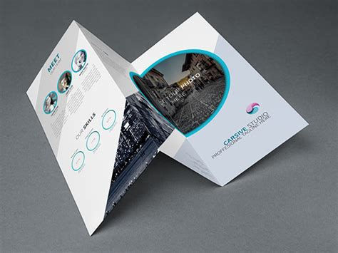 Brochure Photoshop Template by Free Creative Trifold Brochure Template Psd Titanui