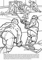 Coloring Pages Sports Winter Hockey Olympics Adults Ice Printable Adult Goalie Extreme Realistic Books Welcome Sheets Goal Print Colouring Match sketch template