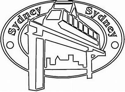 Coloring Monorail Australia Sidney Emblem