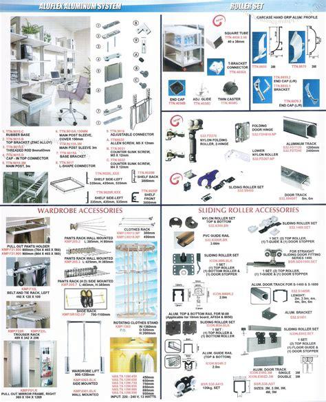 aluflex aluminum system roller set wardrobe accessories philippines