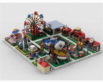 Park Moc Amusement Build Modular Models Lego