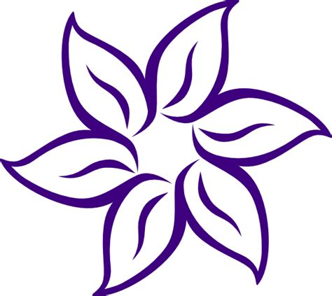 how to draw a purple flower purple flower outline clip art at clker com vector clip art online royalty free public domain