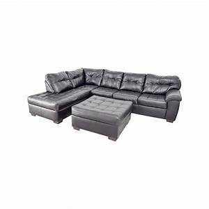 sofa ottoman russcarnahancom With us pride sierra microfiber sectional sofa with ottoman