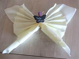 Pliage De Serviette Papillon : emejing pliage de serviette en papier 2 couleurs facile contemporary avec pliage de serviette ~ Melissatoandfro.com Idées de Décoration