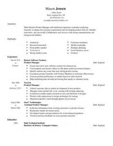 how to build a resume in microsoft word 2007 product manager cv template marketing cv exles livecareer