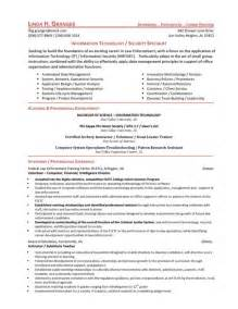 cyber security resume exles cyber security resume