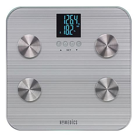 homedics  healthstation body fat bathroom scale bed