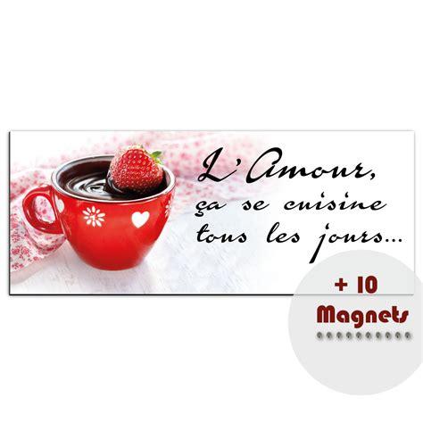cuisine de tous les jours sticker magnétique sticker magnétique l amour ça se