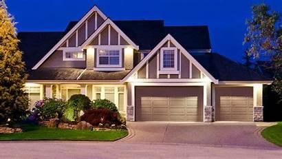 Garage Door Night Luxury Countryside Homes Triple