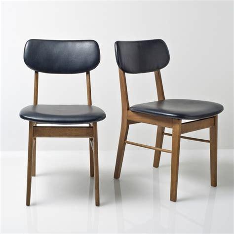 la redoute chaises de cuisine chaise vintage lot de 2 watford noir uni la redoute