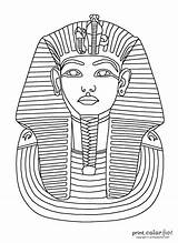 Tut King Mask Coloring Tutankhamun Pages Egyptian Egypt Printable Ancient Colouring Colour Pharaoh Crafts Printables History Cards Printcolorfun Fun Chapter sketch template