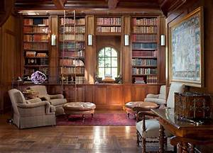 30 classic home library design ideas imposing style for Home office library design ideas