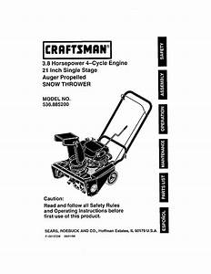 Craftsman Snow Blower 536 8852 User Guide