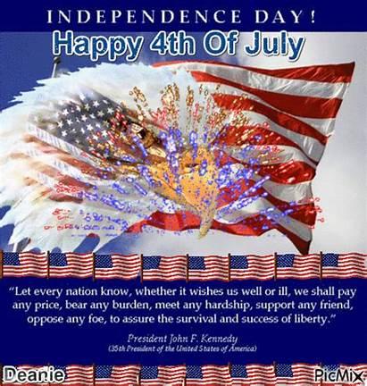 4th July Happy Quote Jfk President Picmix