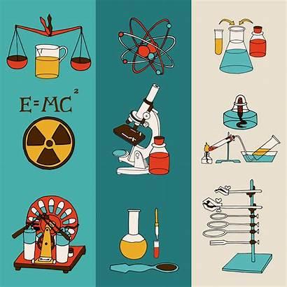 Science Physics Vector Lab Equipment Illustration Banner
