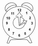 Clock Coloring Alarm Tayo Outline Gambar Mewarnai Reminder Kartun sketch template