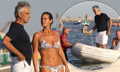 Andrea Bocelli enjoys beach day with wife Veronica Berti