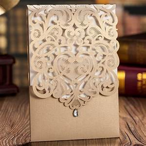 aliexpresscom buy luxury korean style fantastic gold With laser cut wedding invitations sri lanka