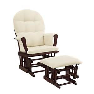 angel line windsor glider and ottoman cherry finish and