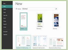 How to Create Brochures Using Microsoft Publisher » VripMaster