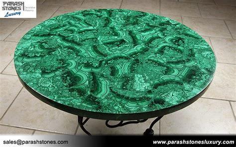 Luxury slab & furniture in malachite semi precious
