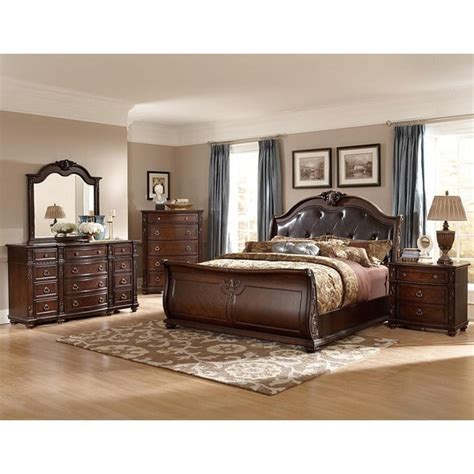 oakmont manor black leather tufted 5 marble top