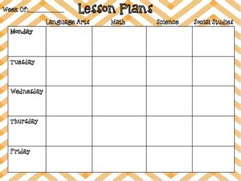 Free Editable Weekly Lesson Plan Template by Weekly Lesson Plan Editable Template By Third Grade