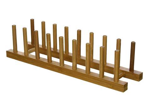 bamboo wood plate rack  dish racks
