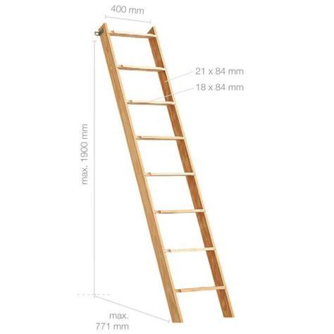 echelle en bois déco 201 chelle en bois h190cm 8 marches achat vente escalier