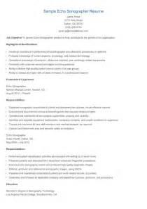resume candidate for bachelor resume sles sle echo sonographer resume