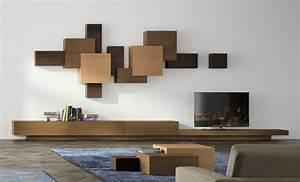 Wohnzimmer Holz Modern : die wohnwand von heute modern variabel erweiterbar ~ Orissabook.com Haus und Dekorationen