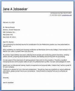 cover letter phlebotomy medical assistant medical With sample cover letter for phlebotomist with no experience