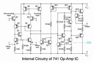 ic 741 op amp basics characteristics pin configuration With 741 op amp diagram
