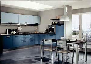 Cuisine Bleue Ikea : cuisine bleue d coration moderne avec des touches en bleu ~ Preciouscoupons.com Idées de Décoration