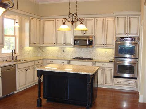 Vintage Distressed White Kitchen Cabinets