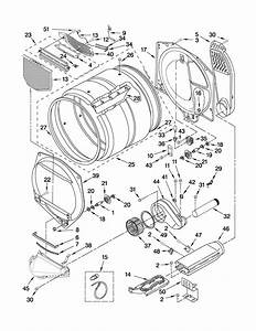 Bulkhead Parts Diagram  U0026 Parts List For Model Wed5500xw0 Whirlpool